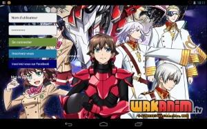 Application Wakanim sur Android
