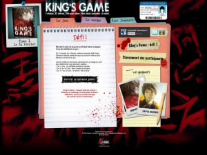 Site promotionnel King's Game