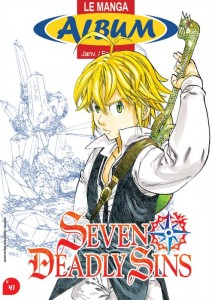 Seven Deadly Sins en couverture du magazine des librairies Album