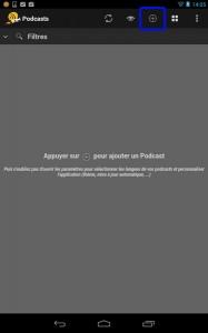 Une fois l'application installée sur votre terminal, il vous faut cliquer sur le signe +.