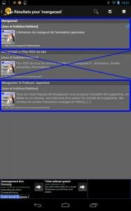 """Sélectionnez le choix """"Mangacast"""" ou """"Mangacast, le Podcast Japanime"""". Les deux fonctionnent et vous abonnent à l'émission. Ne sélectionnez pas """"Mangacast - Flux RSS du site"""" qui est le flux des articles du site, et non des émissions !"""
