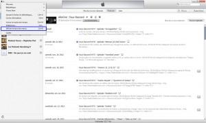 Dans iTunes, cliquez sur l'icône en haut à gauche, et sélectionnez Afficher la barre des menus.