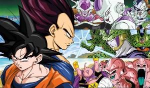 Les ennemis majeurs de la saga DBZ : Freeza, Cell & Buu sous leurs différentes formes