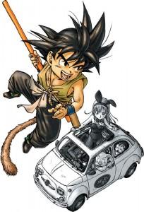 Son Goku et Bulma - Illustration d'Akira TORIYAMA pour la Perfect Edition