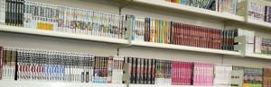 Bibliothèque de manga, dans le magasin parisien Hayaku Shop