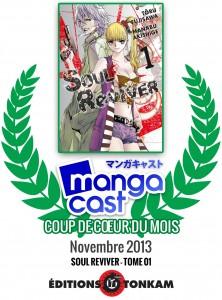 Coup de Coeur du Mois de Novembre 2013 : Soul Reviver - Tome 01