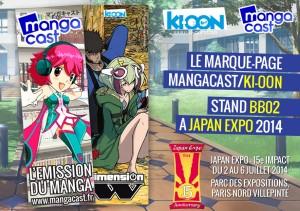 Marque-page Mangacast/Ki-oon 2014