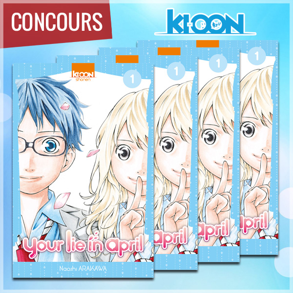 [Concours] Gagnez le premier tome de YOUR LIE IN APRIL avec Ki-oon !