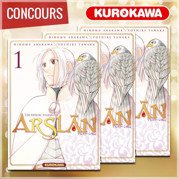 Gagnez le premier tome de THE HEROIC LEGEND OF ARSLÂN avec Kurokawa !
