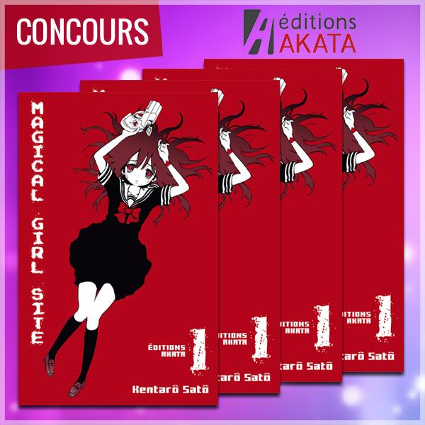 [Concours] Gagnez le premier tome de MAGICAL GIRL SITE avec Akata !