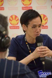 Makoto AIZAWA en pleine interview