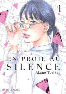 Couverture du tome 1 de En proie au silence chez Akata
