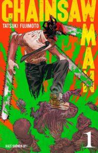 Couverture du tome 1 de Chainsaw Man chez Kazé manga