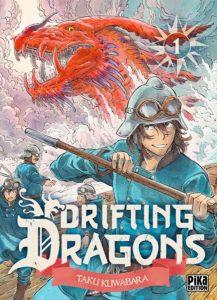 Couverture du tome 1 de Drifting Dragons chez Pika