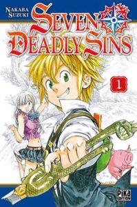 Couverture du tome 1 de Seven Deadly Sins chez Pika