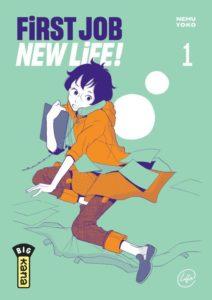 Couverture du tome 1 de First Job New Life chez kana