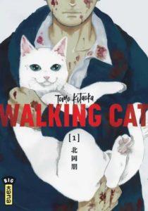 Couverture du tome 1 de Walking Cat chez kana