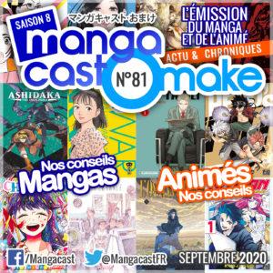 Cartouche du Mangacast Omake n°81 du mois de septembre 2020