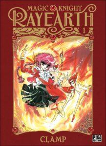 Couverture du tome 1 de la nouvelle édition de Magic Knight Rayearth chez Pika