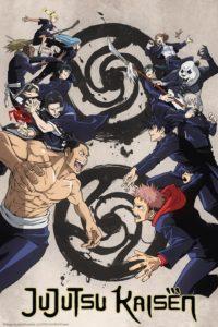 Affiche de la nouvelle saison de l'anime Jujutsu Kaisen sur Crunchyroll
