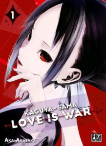 Couverture du tome 1 de Kaguya-sama love is war chez Pika