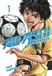 Couverture du tome 1 de Ao Ashi - playmaker chez Mangetsu