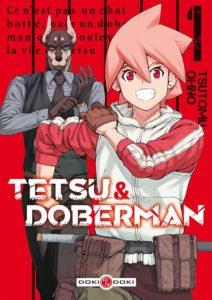 Couverture du tome 1 de Tetsu & Doberman chez Doki-Doki