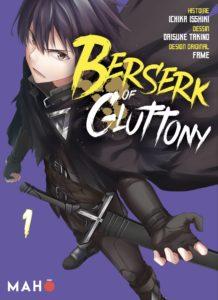Couverture du tome 1 de Berserk of Gluttony chez Mahô éditions