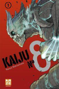 Couverture du tome 1 de Kaiju n°8 chez Kaze